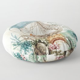 Chinoiserie Embroidery Floor Pillow