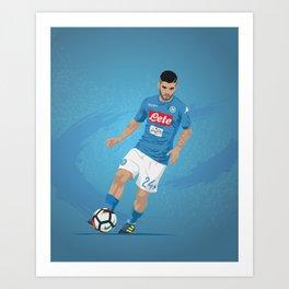 Lorenzo Insigne Napoli Art Print