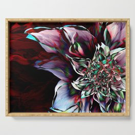 Watercolor Flower Abstract Serving Tray