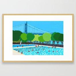 Astoria Park Pool Framed Art Print