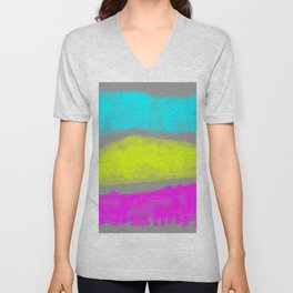 pansexual hard stripes Unisex V-Neck