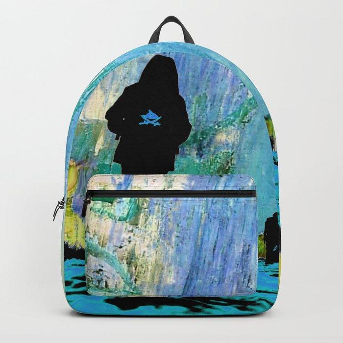 Castaneda and the kids - blue Backpack