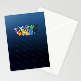 """""""The Dream Team"""" - X & Y Eeveelutions Stationery Cards"""