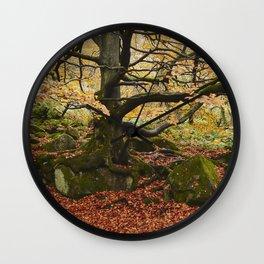 Autumnal woodland. Padley Gorge, Derbyshire, UK. Wall Clock
