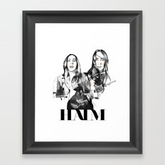 Haim the band Framed Art Print