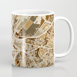 Belfast Northern Ireland City Map Coffee Mug