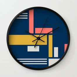 Paths and Roadways, Urban Aerial Wall Clock