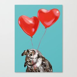 Owl with Love Canvas Print