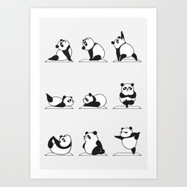 Panda Yoga Art Print