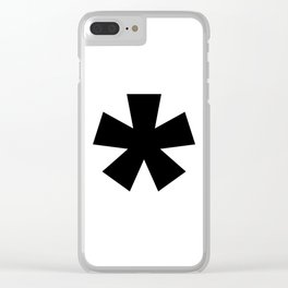 Asterisk (Black & White) Clear iPhone Case