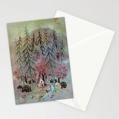 A little house in the woods Stationery Cards