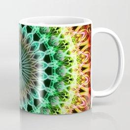 Mandala in yellow, green , orange and red tones Coffee Mug