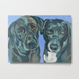 Emily and Annabel Dog Portrait Metal Print