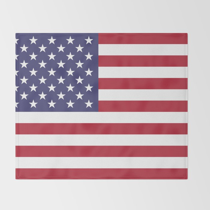 USA flag - Hi Def Authentic color & scale image Throw Blanket