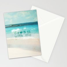 dream with me Stationery Cards