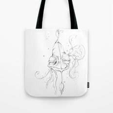 Old Man Fish Tote Bag