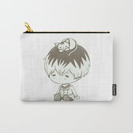 Dazai Osamu with a cat Carry-All Pouch