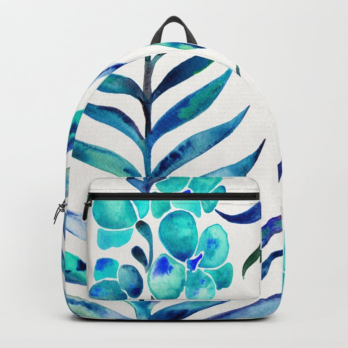 Blooming Orchid – Navy & Turquoise Palette Backpack