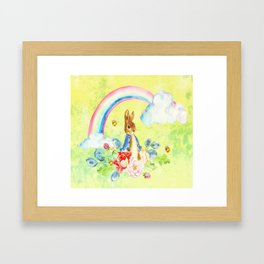Hoppy The Bunny 2 Framed Art Print
