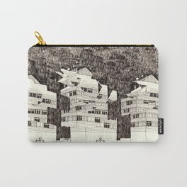 Deconstructed Buildings at Night Carry-All Pouch