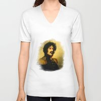 replaceface V-neck T-shirts featuring Frank Zappa - replaceface by replaceface