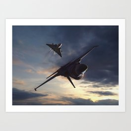 Dog Fight Art Prints | Society6