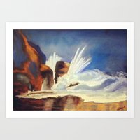 Roaring Sea (Soft Pastel) Art Print