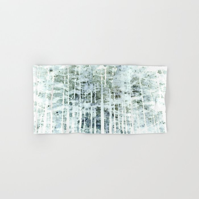 Painterly Woodlands Abstract Hand & Bath Towel