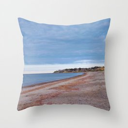 Whitehorse Beach, Plymouth MA Throw Pillow