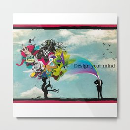 The powerfull mind Metal Print