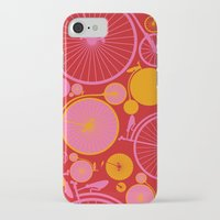 bikes iPhone & iPod Cases featuring Bikes by Helene Michau