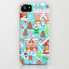 Gingerbread House Christmas Winter Candy, sweets.christmas gift, holiday gift for kids of all ages, iPhone Case