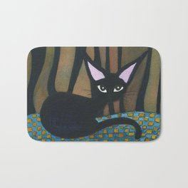 Corpus Christi Whimsical Cat Bath Mat