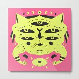 Sand Cat Metal Print