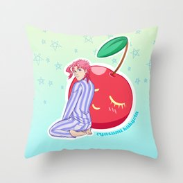 Cherry Boy Throw Pillow