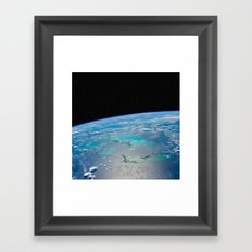 Caribbean Sea from space Framed Art Print
