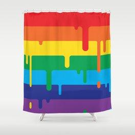 DRIPPY RAINBOW Shower Curtain