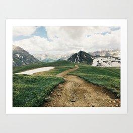 Colorado Mountain Road Art Print
