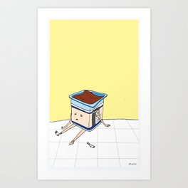 Pudding Boy Art Print