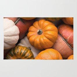 Pumpkins background Rug