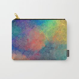 Reflecting Multi Colorful Abstract Prisms Design Carry-All Pouch