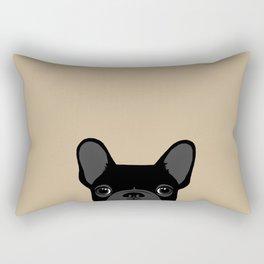 French Bulldog - Black on Tan Rectangular Pillow