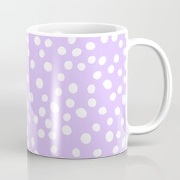 Lavender purple and white doodle dots Coffee Mug