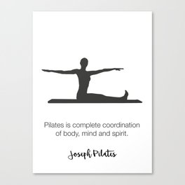 Pilates Studio Decor Canvas Print