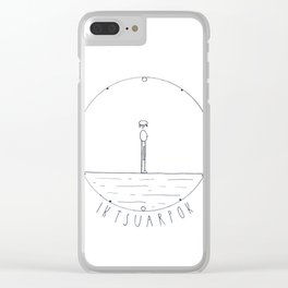 Simple time drawing Clear iPhone Case