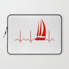 Sailing Heartbeat Laptop Sleeve