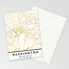 WASHINGTON D.C. DISTRICT OF COLUMBIA CITY STREET MAP ART Stationery Cards
