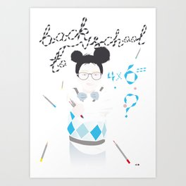 BACK TO SCHOOL Art Print