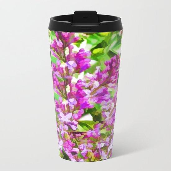 Lazy Day Lilac Metal Travel Mug