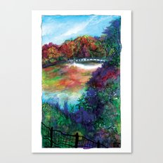 Bow Bridge of Central Park, NYC Canvas Print